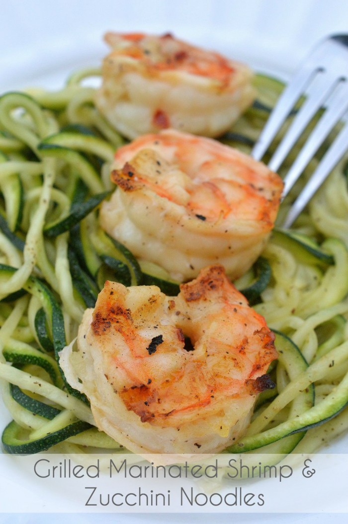 grilled shrimp and zucchini noodles