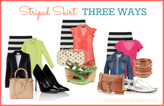 Striped Skirt Three Ways