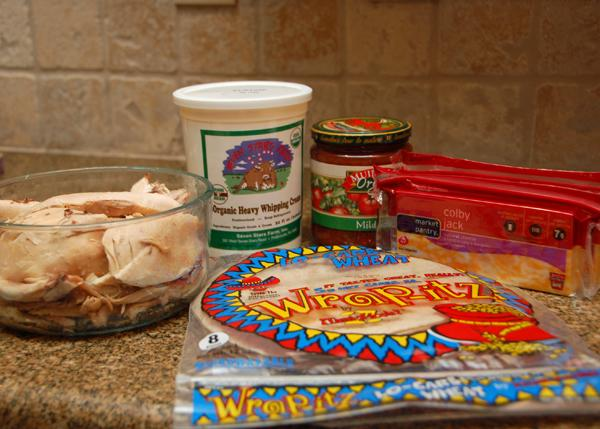 ingredients for chicken enchiladas