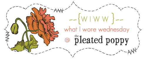 what I wore wednesday blog carnival at The Pleated Poppy