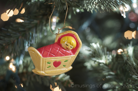 baby's first Christmas ornament circa 1972
