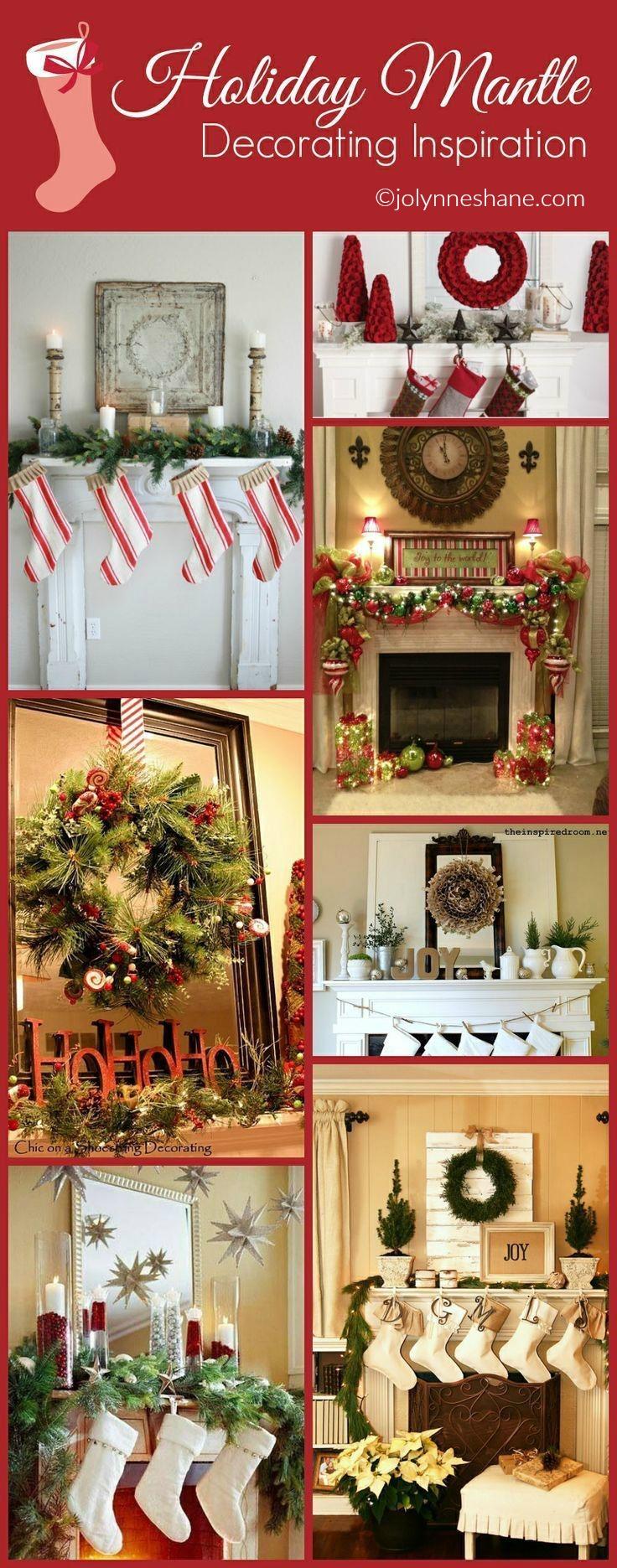holiday mantle decorating ideas