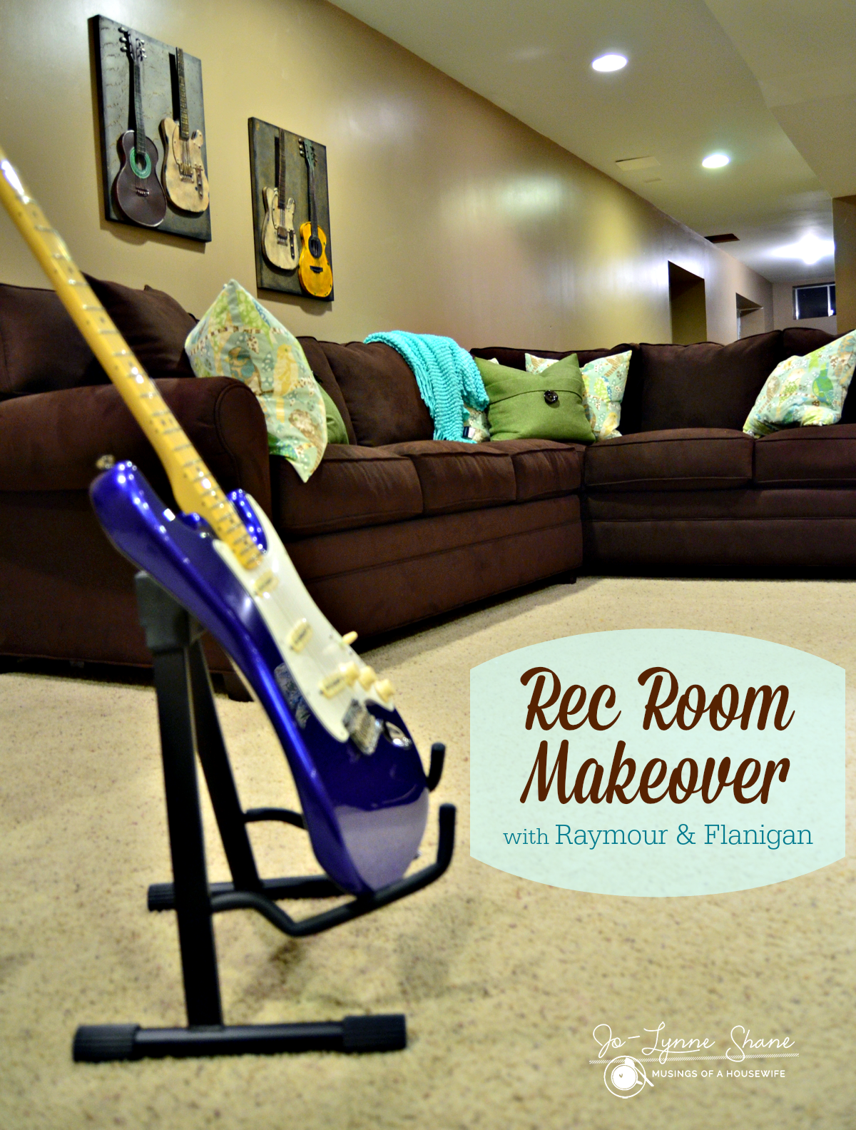 Rec Room Makeover with Raymour & Flanigan