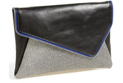 Halogen 'Date Night' Asymmetrical Flap Clutch