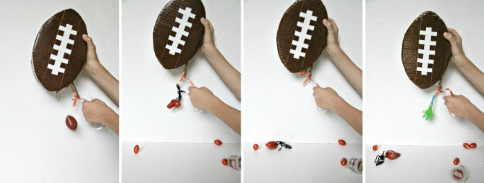 DIY Mini Football Pinata for Game Day Parties