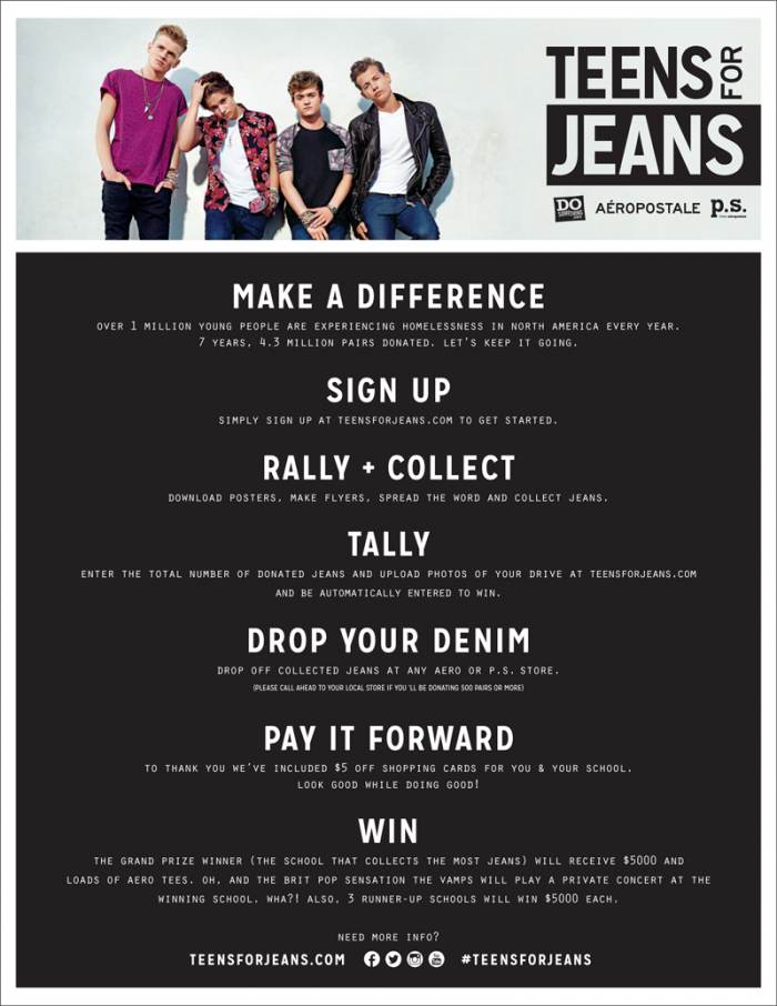 Teens for Jeans: pay it foward!