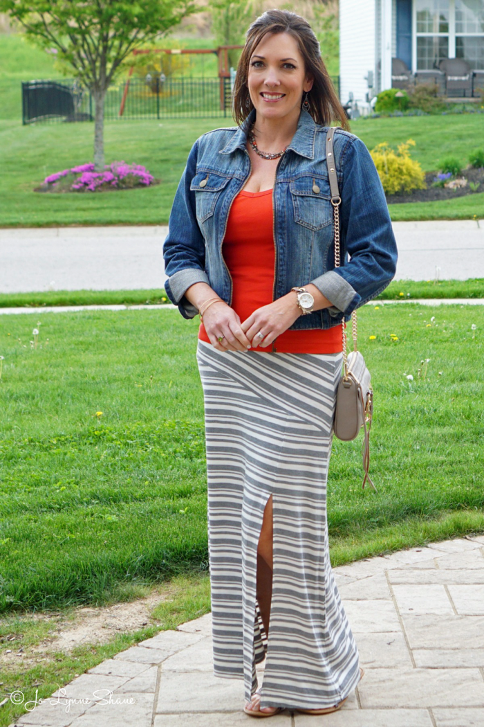 Wearable Spring Fashion For Women Over 40   How to wear a maxi skirt and more women's fashion from jolynneshane.com