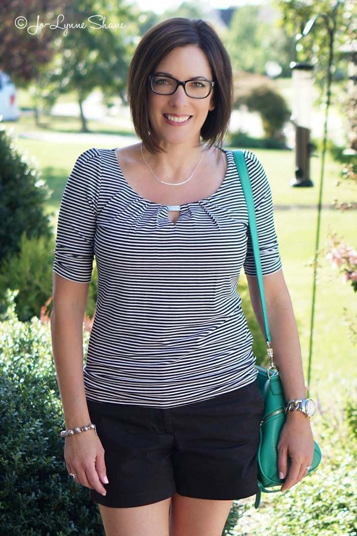 Fashion Over 40: Dressy Shorts Outfit