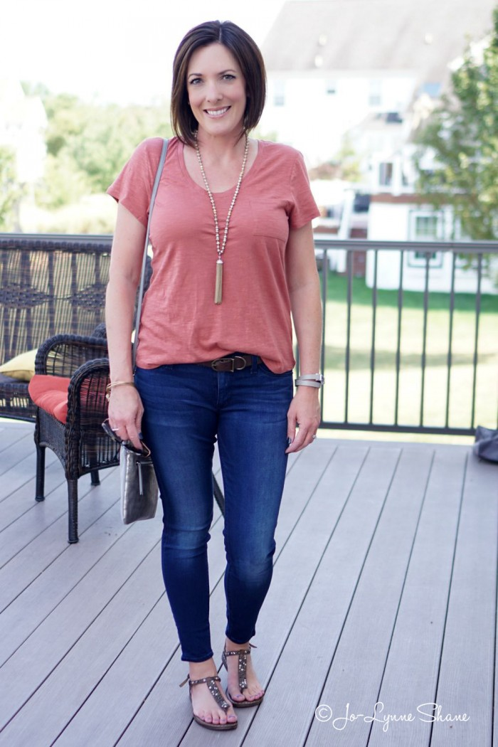 26 Days of Fall Outfits: Day 8: How to Dress Up Jeans and a T-Shirt