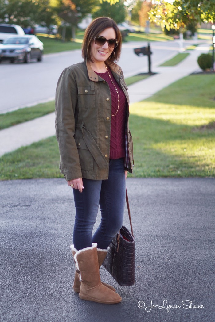 Fashion for Women Over 40: Casual Fall Outfit featuring BearPaw Lauren Boots