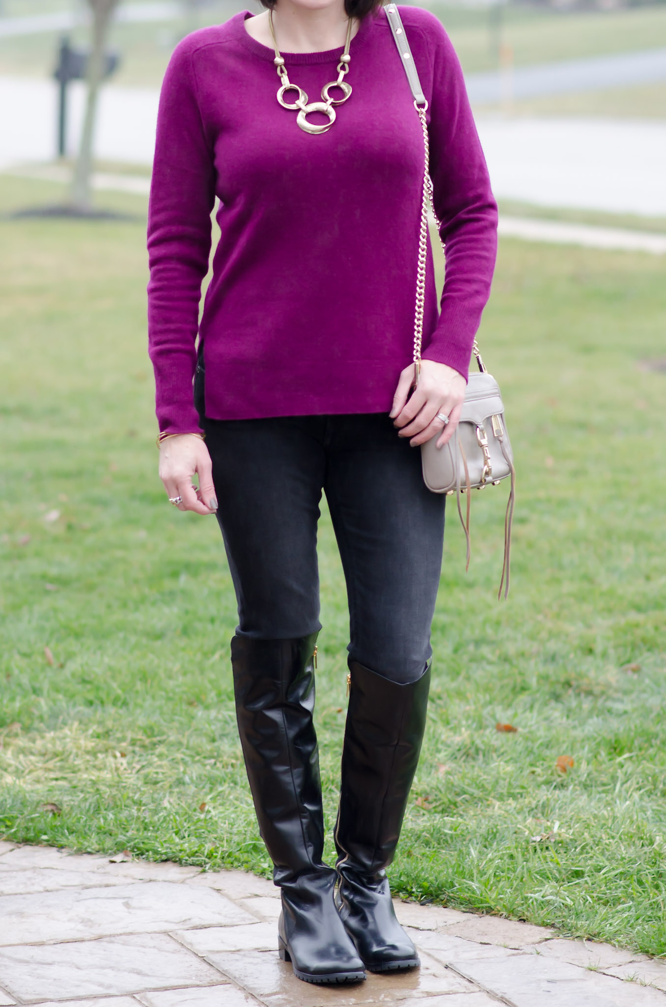 Fashion for Real Women: Cashmere Sweater, Black Jeans, Black OTK Boots