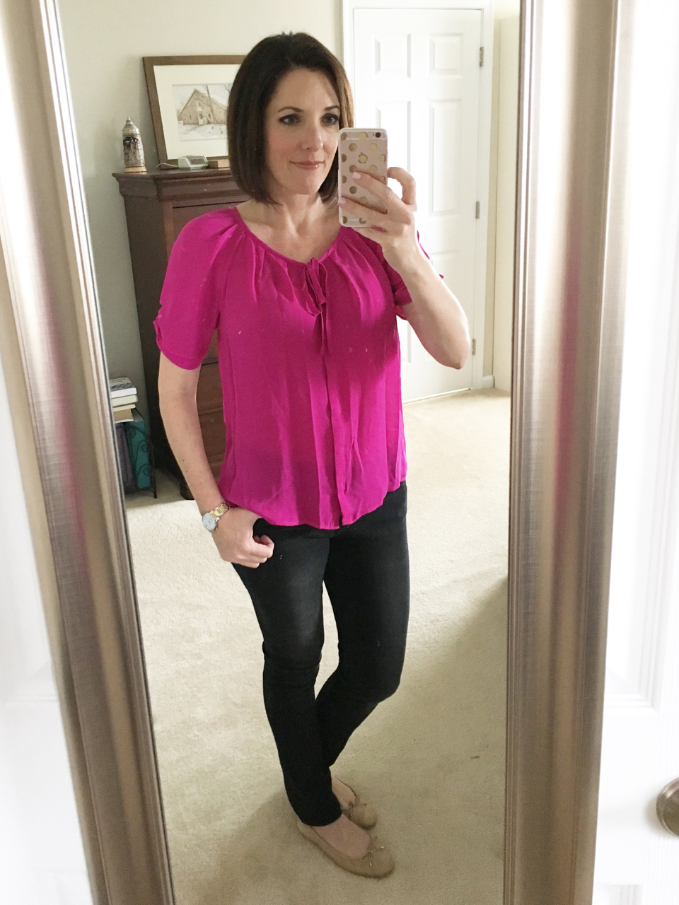 joie pink blouse - 1