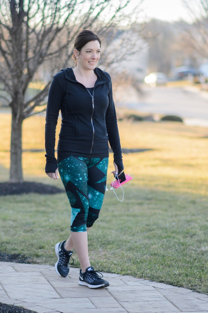 Spring Workout Clothes: Alo Leggings and Hoodie with Zella Tank