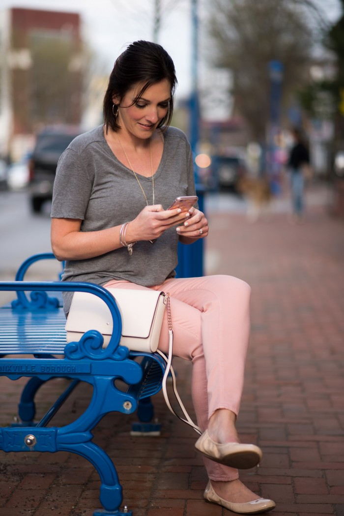 Spring Outfit Inspiration: Pink + Grey | Street Style | Fashion Over 40