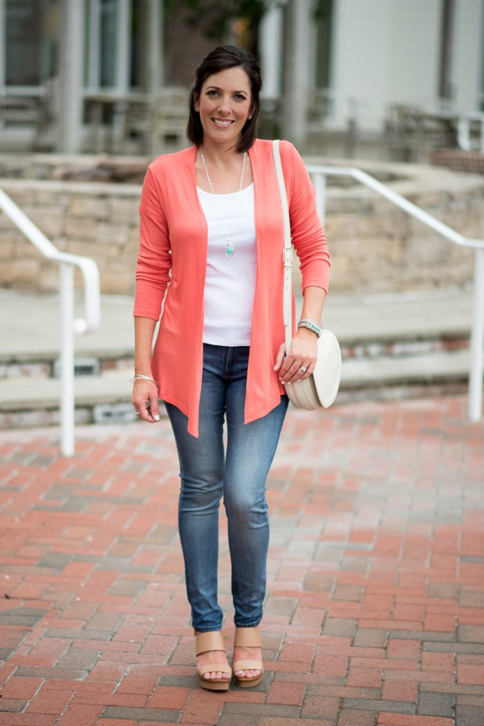 Summer Style for Women Over 40: This is the perfect outfit for cool summer evenings or a highly air-conditioned venue. Also, click through for a $200 Stitch Fix Giveaway!