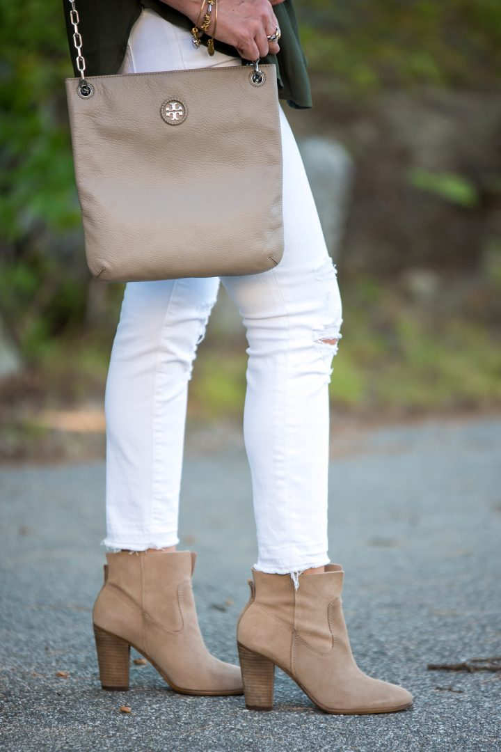 Tory Burch Crossbody and Vince Camuto Feina Booties