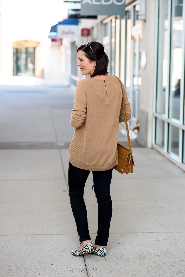 Fall Fashion Inspiration: Camel and Black Outfit with Animal Print