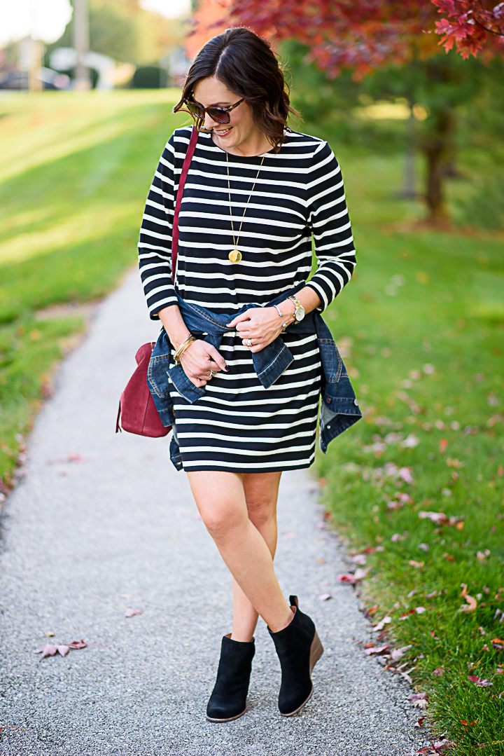 Black White Striped Dress Styled Two Ways