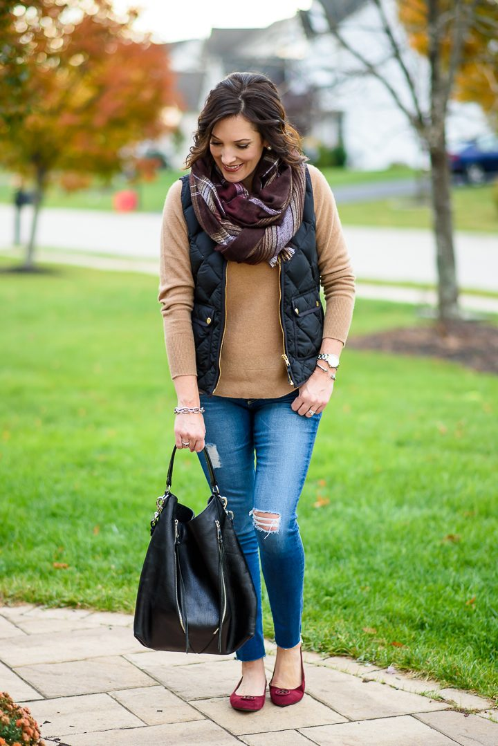 Winter Quilted Vest Outfit | Fashion Over 40