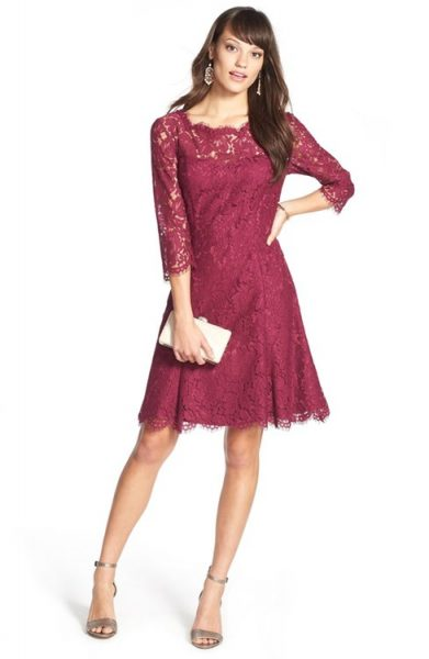 Eliza J Lace Fit & Flare Dress for your company holiday party or winter wedding