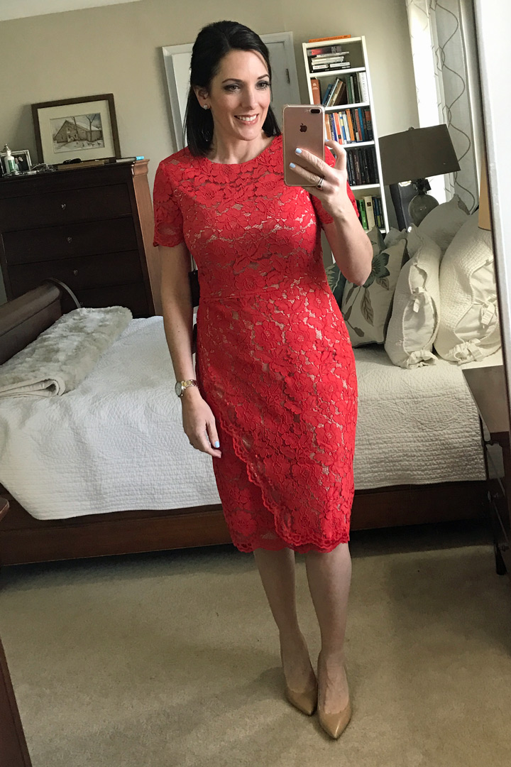 Trunk Club Unboxing: Vince Camuto Lace Sheath Dress