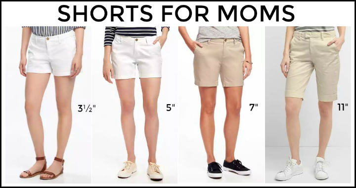 "af67d092d2 Typically shorts are short (3½"" – 4″ inseam), mid-length (5″-7″) or Bermuda  (9″-11″). Most women look best in mid-length shorts."